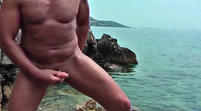 Gay beach, Beach sex, Beach masturbation