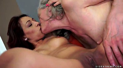 Mature lesbian, Trick, Showing pussy