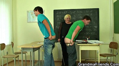 Old teacher, Old and young, Teacher threesome