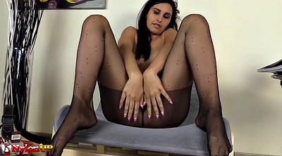 Ebony, Pantyhose footjob