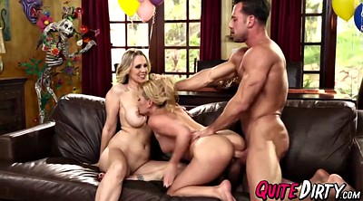 Julia ann, Julia, Ann, Abby, Surprise threesome