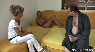 Old daddy, Old mom, Girlfriend threesome, Mature mom, Tricked, Young and old