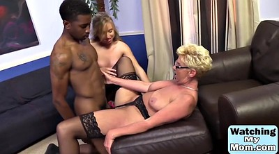 Mature interracial, Mature threesome