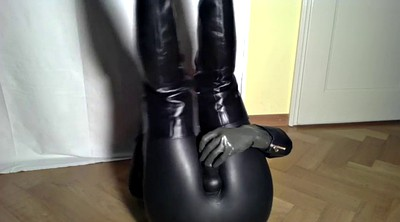 Latex, Crossdressing, Black gay, Big boot, Latex dress