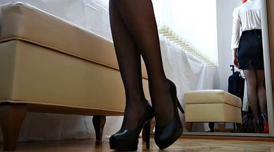 Heels, Stockings, High heels stockings