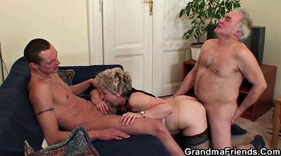 Sex, Granny gangbang, Old couple, Wife threesome, Wife gangbang, Old gangbang