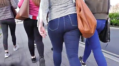 Jeans, Ass compilation, Candid, Candid ass