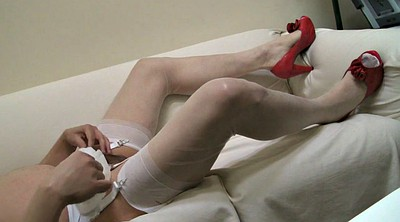Stocking, White pantyhose