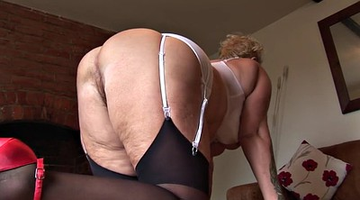 Hairy pussy, Pussy show, Big tit granny