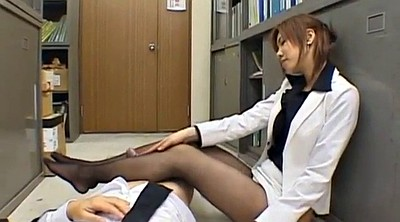 Kissing, Japanese handjob, Nylon handjob