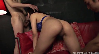 Asian hairy pussy, Licking hairy pussy, Double pussy, Double blowjob, Asian threesomes