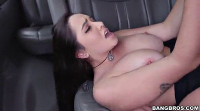 Bus, Long tits, Handjob in bus