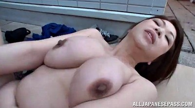 Mature outdoor, Asian chubby