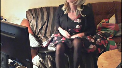 Girl, Solo gay, Mature masturbating, Crossdress