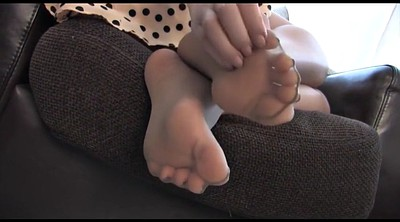 Nylon tease, Nylon foot, Feet tease