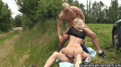 Grandmother, Teen boy, Milf and young boy, Milf and boy