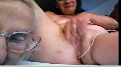 Granny masturbation, Mature lady
