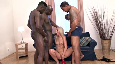 Interracial blowjob, Four