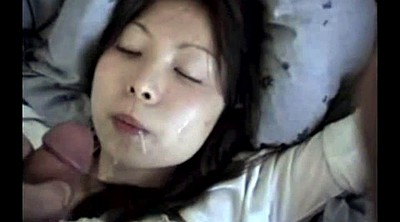 Asian girlfriend, Asian cumshot