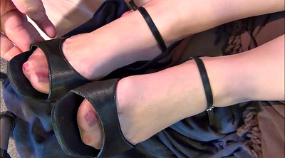 Heels, Nylon feet, Stocking feet, Feet nylon, Stockings foot, Stocking foot