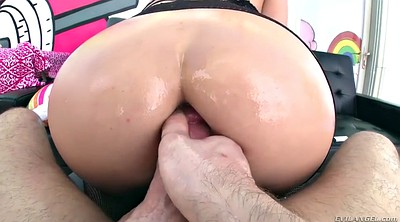 Swallow, Oiled, Chubby ass, Chubby anal