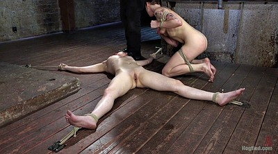 Slave, Tied blowjob, Throat