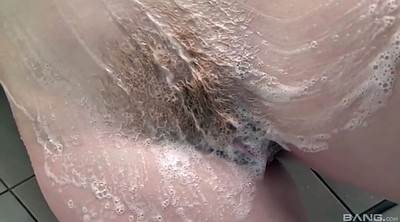 Hairy shower, Take a shower, Hairy redhead