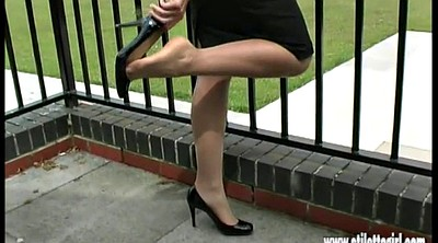 Foot, High heels, Nylon foot