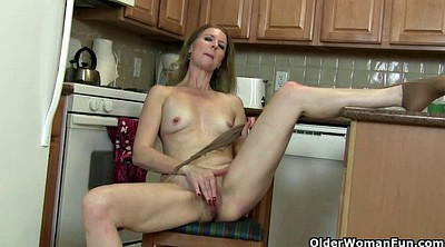 Mature pantyhose, American, Nylon mature