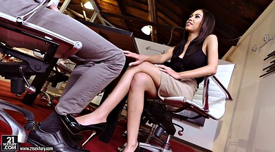 Teen footjob, Office footjob, Feet fetish