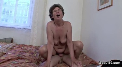Mother, Hairy young, German milf, Step son, Fuck son, Step mother