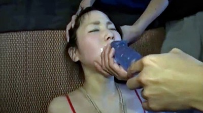 Slave, Girl, Teach, Japanese slave, Japanese deep throat, Japanese dildo