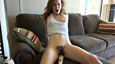 Cum in pussy, Hairy toy, Hairy masturbate