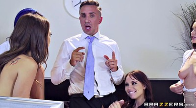 Lana rhoades, Riley reid, Griffith, Boss and secretary, Office sex, Janice griffith