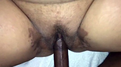 Hairy, Interracial creampie