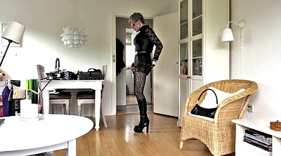 Heels, Cd, Tranny, Leather, Stockings