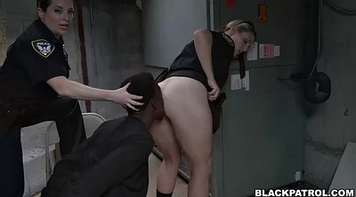 Police, White, Interrogation, White ass, Femdom blowjob