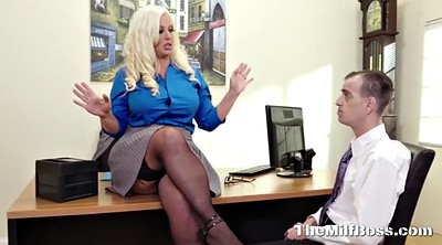 Boss, Busty blonde, Busty office