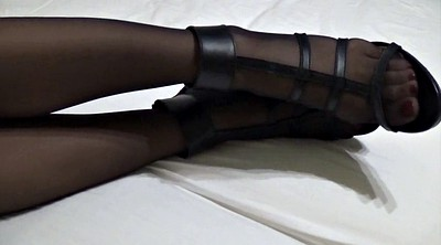 Fetish, Foot, Stocking, High heels, Stockings foot, Stockings feet