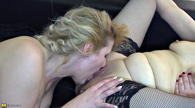 Young pussy, Lesbian granny, Eat, Pussy eating