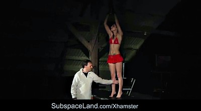 Pain, Screaming, Bondage orgasm, Painful, Teen slave, Domination