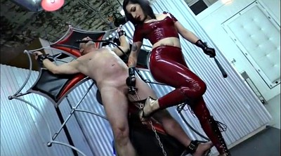 Cbt, Slave, Whipped, Femdom whipping, Latex mistress