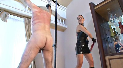 Whipping, Mistress t, Whipped, Male slave, Latex mistress, Dressing