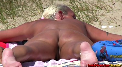 Nudist, Horny wife, Beach voyeur