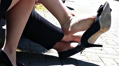 Shoes, Milf feet, Candid, High heels fetish