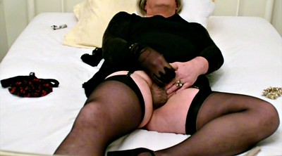 Black stockings, Cum in stockings, Stockings masturbating, Stocking bondage, Self