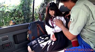 Japanese schoolgirl, Japanese car