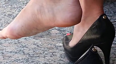 Candid, High, Sexy feet, High-heeled shoes, Candid feet, Shoes