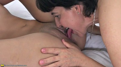 Lesbian old and young, Lesbian milf, Taboo, Old and young lesbians, Mom daughter