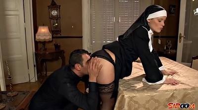 Stock, Nuns, Priest, Ebony stockings